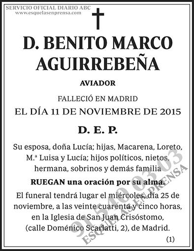 Benito Marco Aguirrebeña